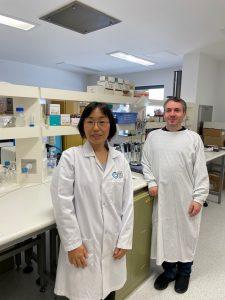 Dr Shuko Suzuki and Dr Onur Sakiragaoglu at Queensland Eye Institute